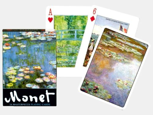 Monet single deck Gibsons Games Piatnik playing cards