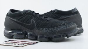 competitive price 267c0 ae29c Details about NIKE AIR VAPORMAX 2.0 USED SIZE 9.5 TRIPLE BLACK ANTHRACITE  DARK GREY 849558 007