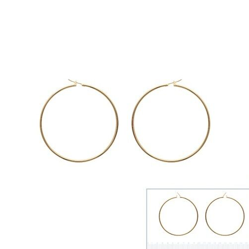 Rings Creole 2 3 4in THREAD ROUND 0 3 32in new gold plated