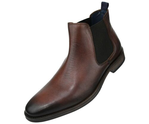 Asher Green Mens Full Grain Leather High Top Chelsea Boot