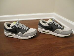 df690f17b6 Used Worn Size 11.5 Nike Air Max 1 Essential Shoes White Gray Black ...
