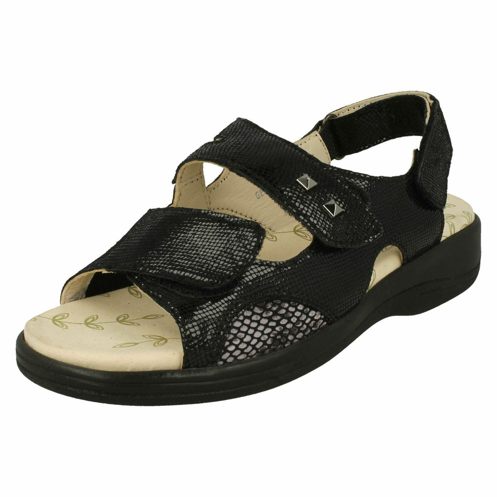 Ladies Padders Strappy Open-Toe Sandals Gemstone