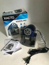 X Acto School Pro Electric Pencil Sharpener 1670 Blue