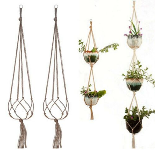 Handgemacht Hänge Pflanz Korb Blumenampel Pflanzen Hängetopf Metall Ring Deko