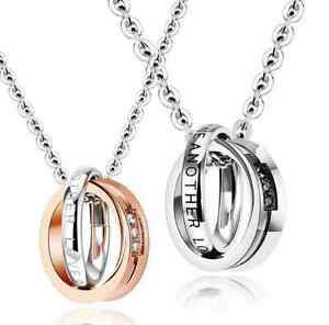 Coppia-collana-Anelli-Uomo-Donna-Unisex-cuore-incisione-personalizzata-acciaio