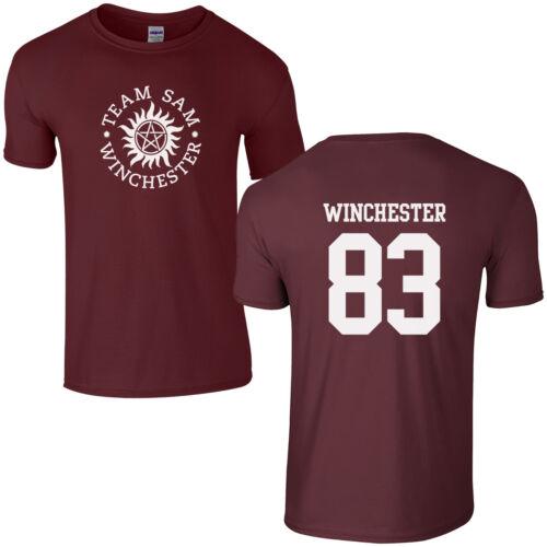 Team Sam Winchester 83 T-Shirt Supernatural Saving People Hunting Things Top