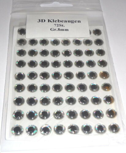 Pilker oder Blinker basteln 3D Klebeaugen verschiedene Größen