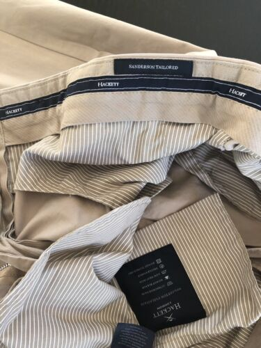 Taille 34R//44R Hackett London Sanderson Classic Fit Pantalon Chino outmeal//Beige