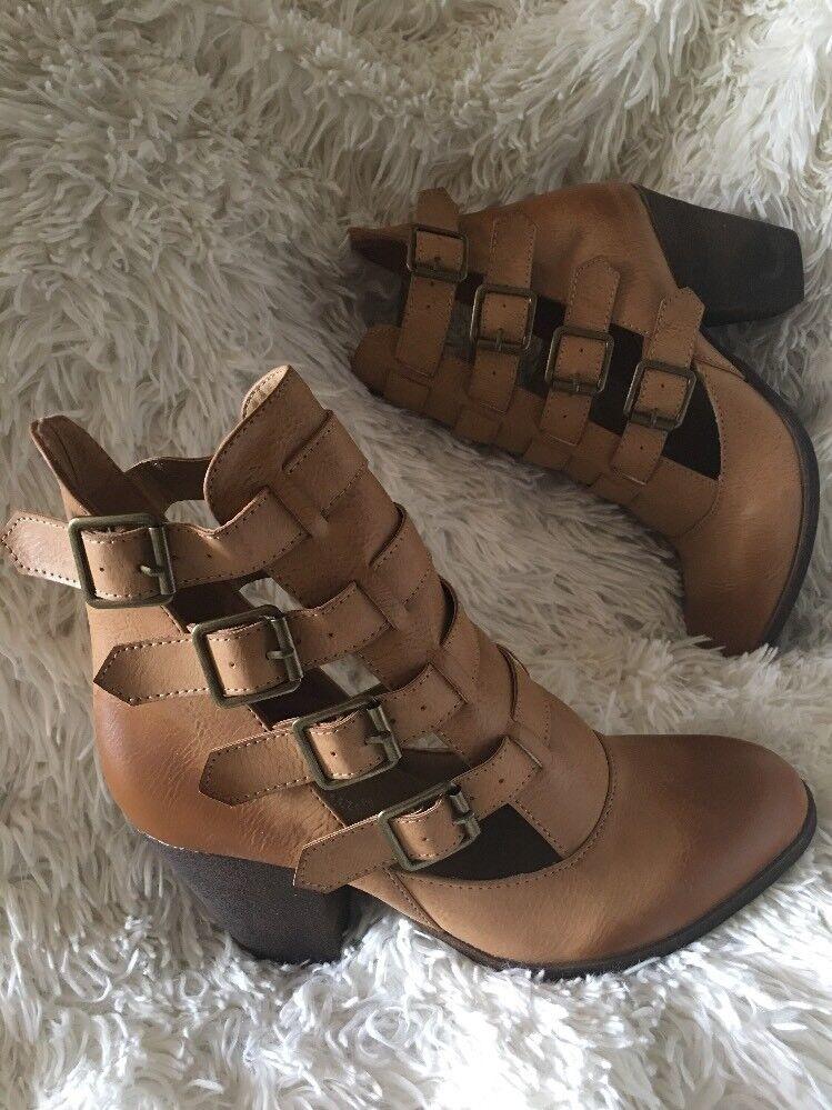 Nature Breeze EL PASO buckle Boots tan sz 8 new