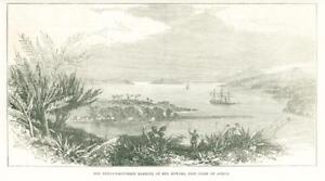 1874-Antique-Print-AFRICA-East-Coast-Harbour-Mto-Mtwara-Ship-Sails-18