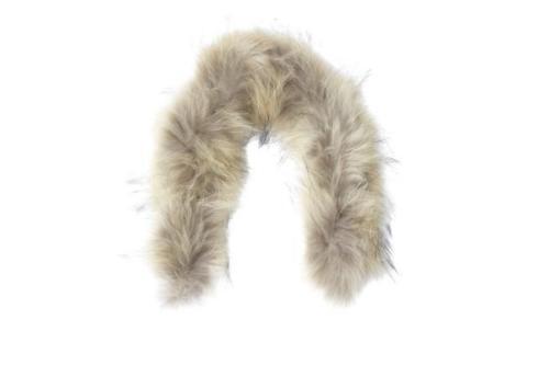 Natural RACCOON fur hood trim or collar for down coat by M.R.