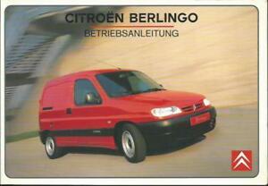 CITROEN-BERLINGO-1-Betriebsanleitung-1999-Bedienungsanleitung-Handbuch-BA