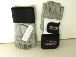 TKO-Padded-Leather-Pro-Wrap-Cross-Training-Fitness-Gloves-Womens-Size-LARGE-NEW