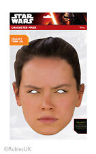 Rey Official Star Wars The Force Awakens Single 2D Card Party Face Mask Daisy