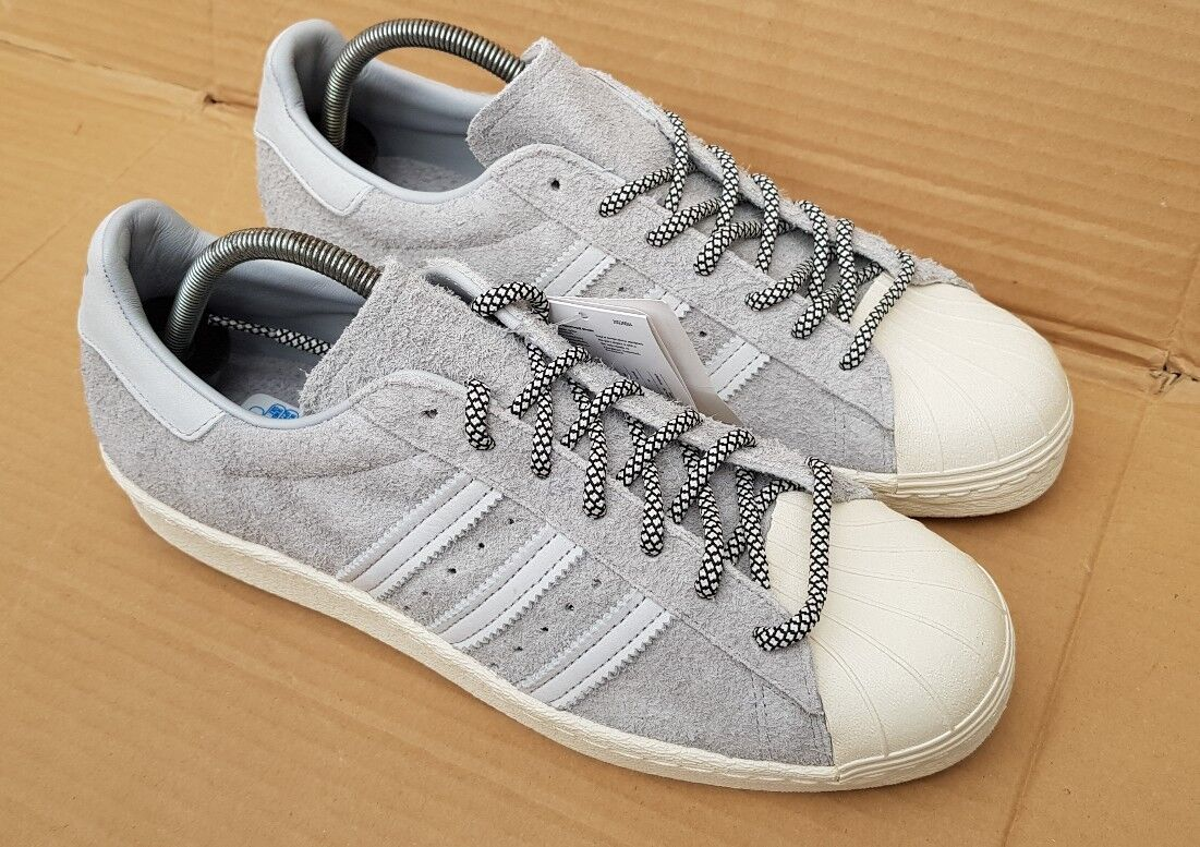 BNWT ADIDAS SUPERSTAR 80& 039;s TRAINERS LIMITED EDITION EDITION EDITION Größe 8 UK grau SUEDE BOXED 009e48