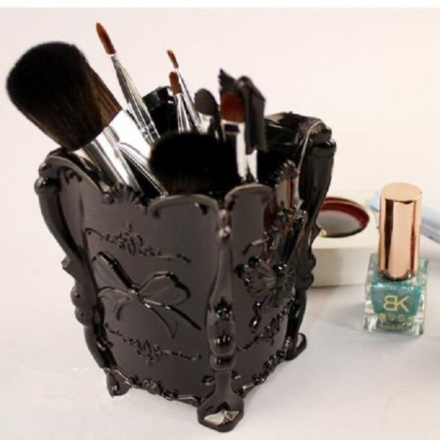 Chic Brush Makeup Plastic Cosmetic Storage Box Case Organizer Holder 5 Colors -T
