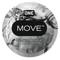 One Move 3ml Foil Pack Sample Silicone Lubricant, Pack Of 5, 10 Or 20