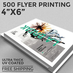 Image Is Loading 500 Flyer Printing 4x6 Custom 1 Or 2