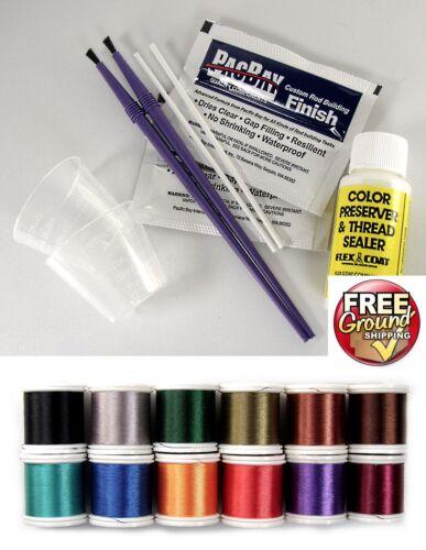 Rod Repair w//Color Preserver Replacement Guide Finish Kit