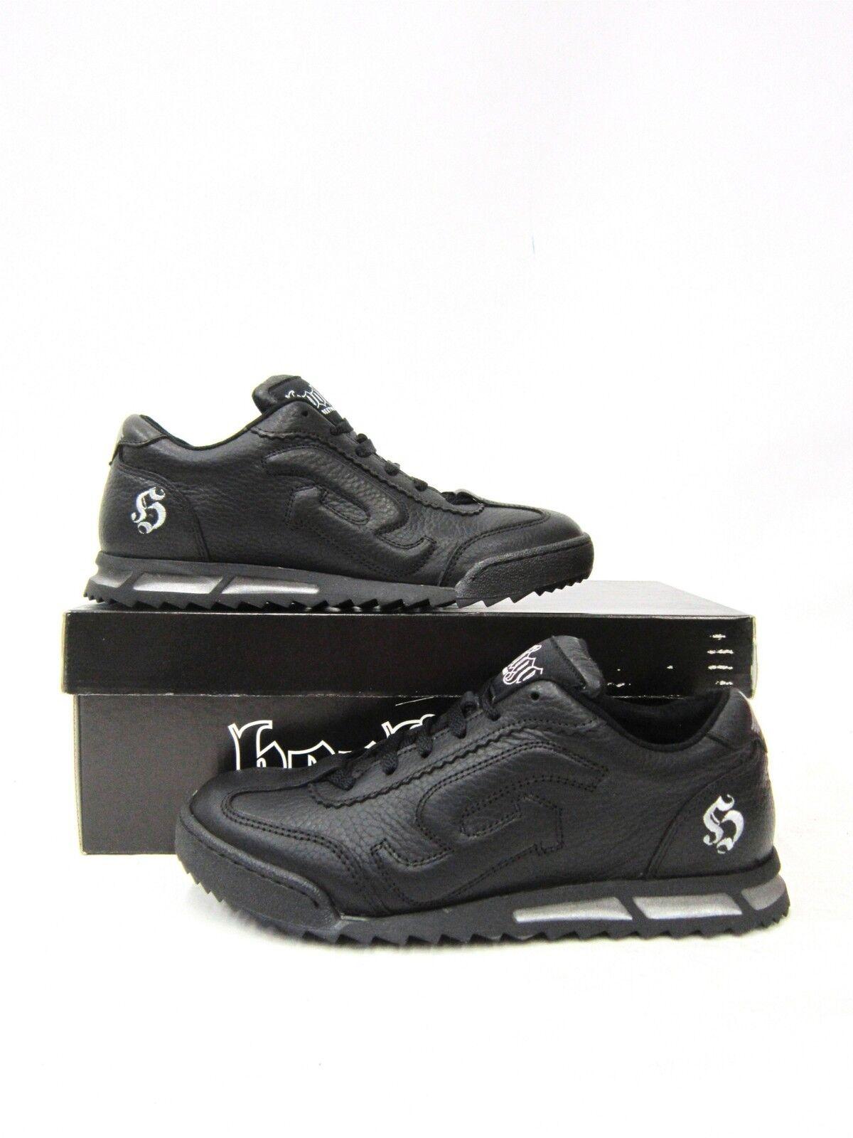 Billig gute Qualität Hooligan Sneaker Schuh Schwarz #5000