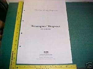 image is loading 1993-ford-tempo-topaz-wiring-diagrams-service-manual