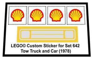 Precut-Replica-Sticker-for-Lego-Set-642-Tow-Truck-and-Car-1978