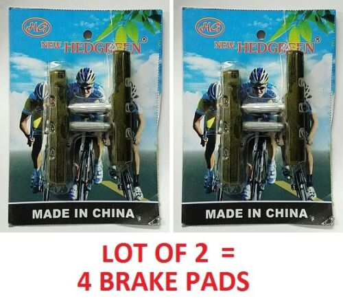 LOT OF 2 Black Rubber Bike 70mm Brake Shoes Holder Pads Mountain 2 Pair 4 pc