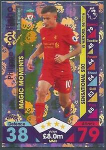 TOPPS-MATCH-ATTAX-2016-17-EXTRA-MM03-LIVERPOOL-PHILIPPE-COUTINHO-SILVER-FOIL