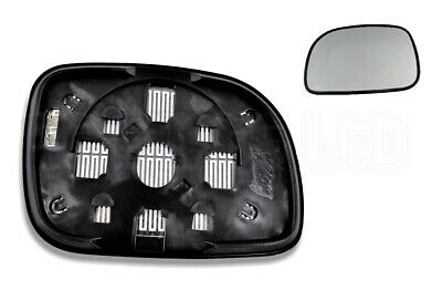 Right Side Wide Angle Heated Mirror Glass for Chrysler Grand Voyager 1996-2007