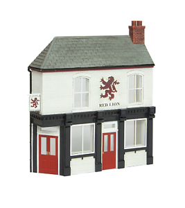 Bachmann-44-0201-OO-Gauge-Low-Relief-Corner-Pub-The-Red-Lion