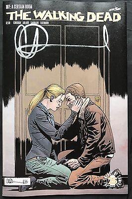 IMAGE COMICS THE WALKING DEAD #115 COVER I SIGNED BY CHARLIE ADLARD W//COA