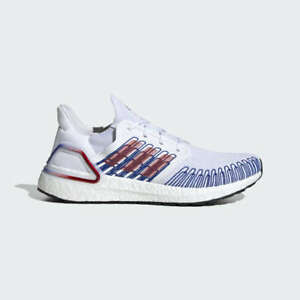 Details about Adidas Ultra Boost 20 Shoes White/Red/Blue Ultraboost Mens sizes