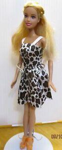 Barbie-Doll-Long-Blonde-Hair-Straight-Limbs-high-heels-new-dress