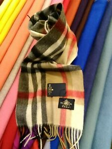 The-House-Of-Balmoral-Camel-Thomson-Cashmere-Scarf-Warm-Pure-Soft-100-CASHMERE