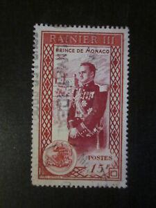 Timbre-Monaco-YT-342-oblitere-Prince-RAINIER