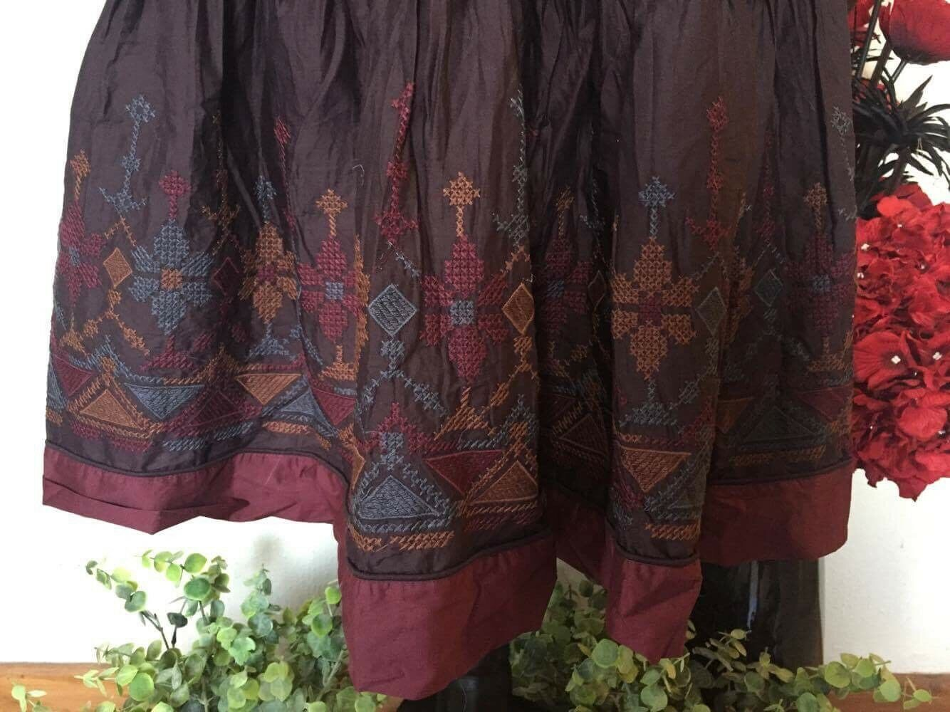 SALE GORGEOUS EMBROIDERED SKIRT BY BOHEMIA OF SWEDEN BOHEMIAN, HIPPY, LAGENLOOK