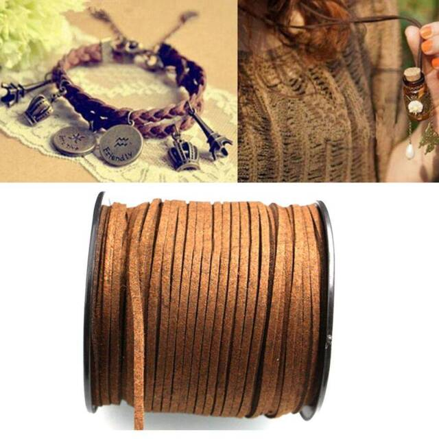 Women Black Bracelet Round Genuine Leather Cord Necklace Rope String Wire Sale