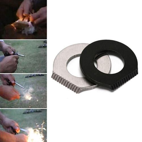 Details about  /Camping Hiking Survival Magnesium Flint//Bottle Opener//Scraper Fire Starter U KV