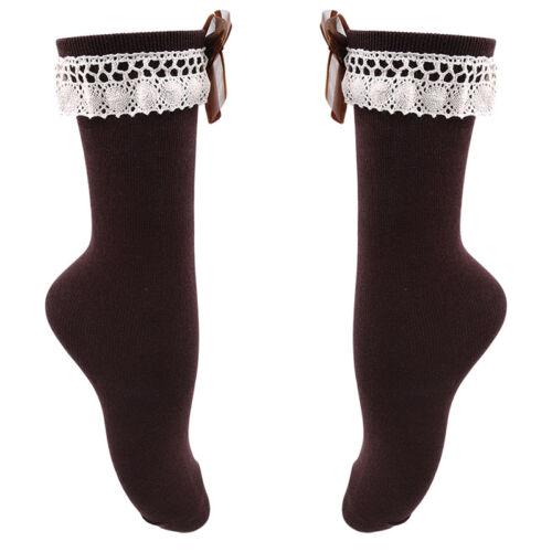 Baby Girls Cotton Socks Knee High with Bows Baby Socks Long Tube Kids Warmer Z