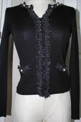 lana in a medio Maglione Nero da Tracy manica New Ellen lunga acrilica donna TZCxBwq