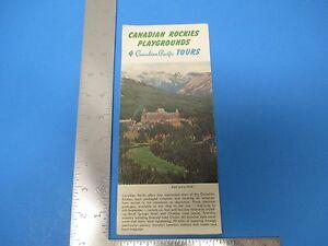 Details about Vintage 1953 Canadian Pacific Travel Brochure 4 Tours Banff  Louise Rockies S3158