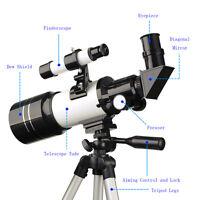 US 70/300mm Refractor Terrestrial/Astronomical Telescope+Eyepiece+Finderscope