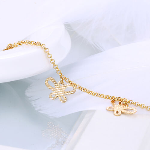 """9K 9ct Yellow /""""GOLD FILLED/"""" Ladies ANKLE CHAIN ANKLET 11.8/"""",2199"""