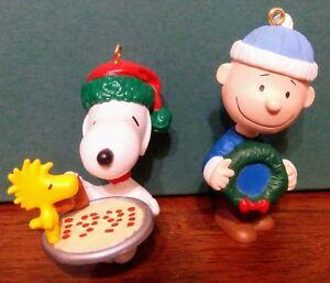 image is loading vintage hallmark peanuts charlie brown snoopy woodstock christmas