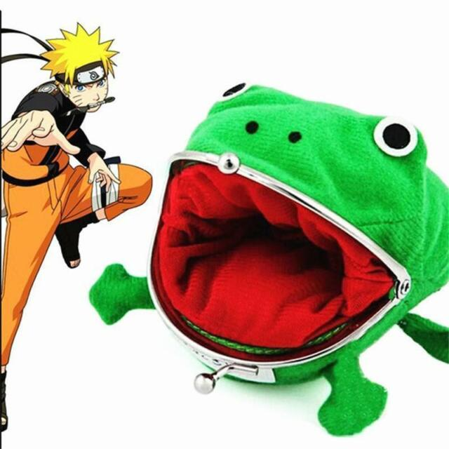 Naruto Kunai Ninja Weapon Frog Shape Cosplay Coin Purse Wallet Soft Furry BE