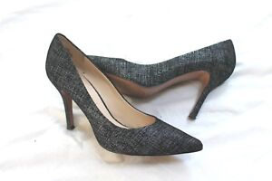 8d913114ea5 Nine West Flax Black 2 Leather Heel POINTY Pump Womens Shoes SIZE 7 ...