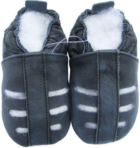 carozoo sandals dark blue 6-12m soft sole leather baby