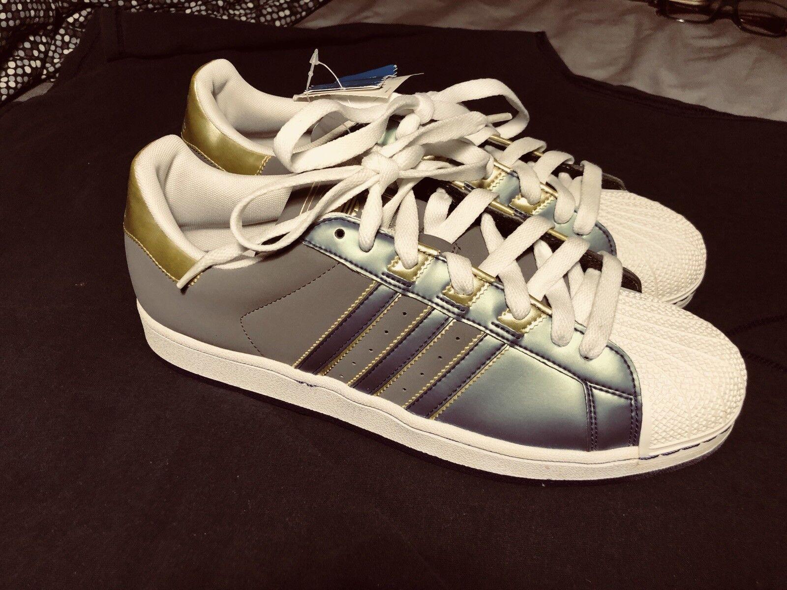 adidas superstar mens größe 12 grau neue ohne box leder grau 12 und gold 6fc81c