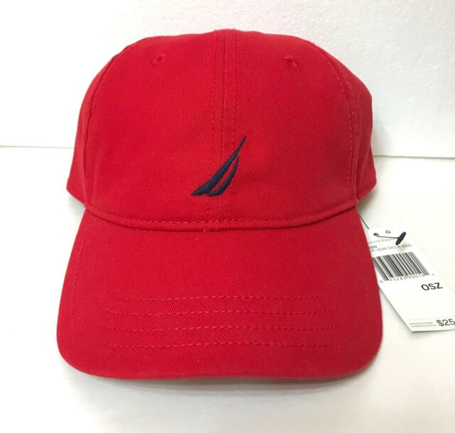 New 25 NAUTICA HAT Red   Navy Blue Relaxed Fit Dad Cap Men Women OSFM af2d785c5b81