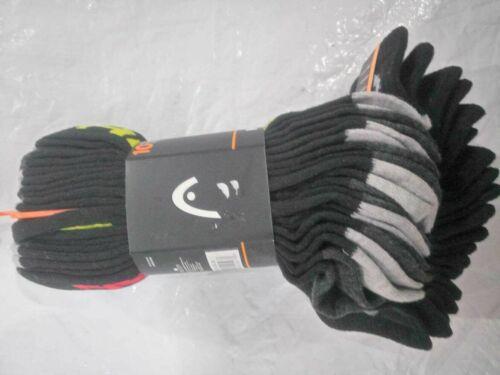 NEW Head Mens Sport Socks Swift Dry Sport Quarter Socks 10-Pack Large